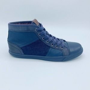 Ben Sherman Blue High Top Lace Up Sneakers Shoes